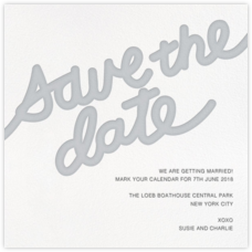 Love Letter (Save the Date) - Gray