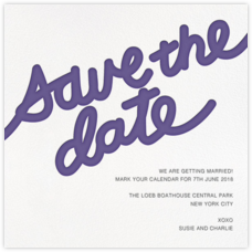 Love Letter (Save the Date) - Purple