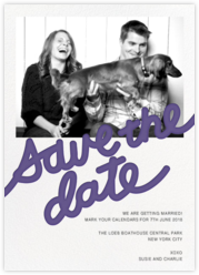 Love Letter (Photo Save the Date) - Purple