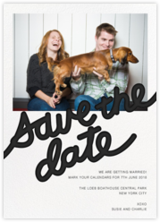 Love Letter (Photo Save the Date) - Black