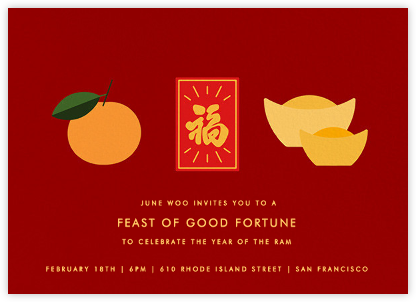 Lucky Fortunes - Paperless Post - Lunar New Year Invitations