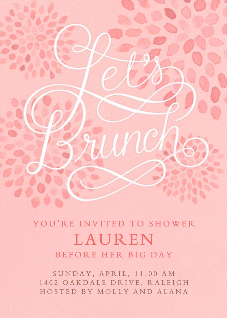 Let's Brunch - Crate & Barrel - Brunch invitations