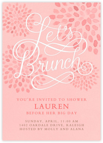 Let's Brunch - Crate & Barrel - Brunch invitations