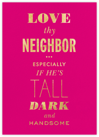 Love Thy Neighbor - kate spade new york - Valentine's day cards