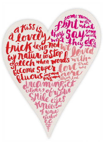 Script Heart - kate spade new york - Valentine's Day Cards