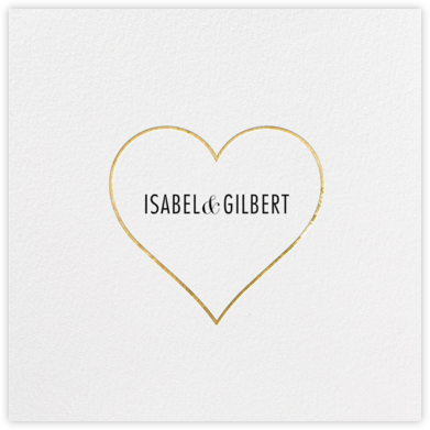 Heart Line - Gold - Paperless Post - Save the date cards and templates