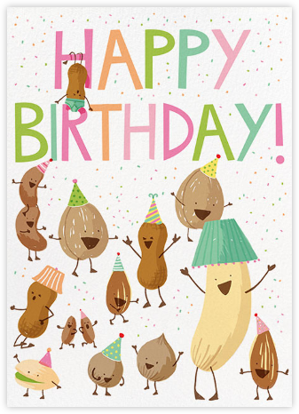 Nutty Birthday - Hello!Lucky - Online greeting cards