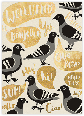 Pigeon Says Hi - Hello!Lucky - Just Because Cards