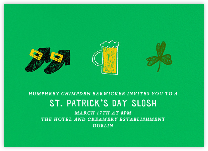 Paddy's Pint - Paperless Post - Online Party Invitations