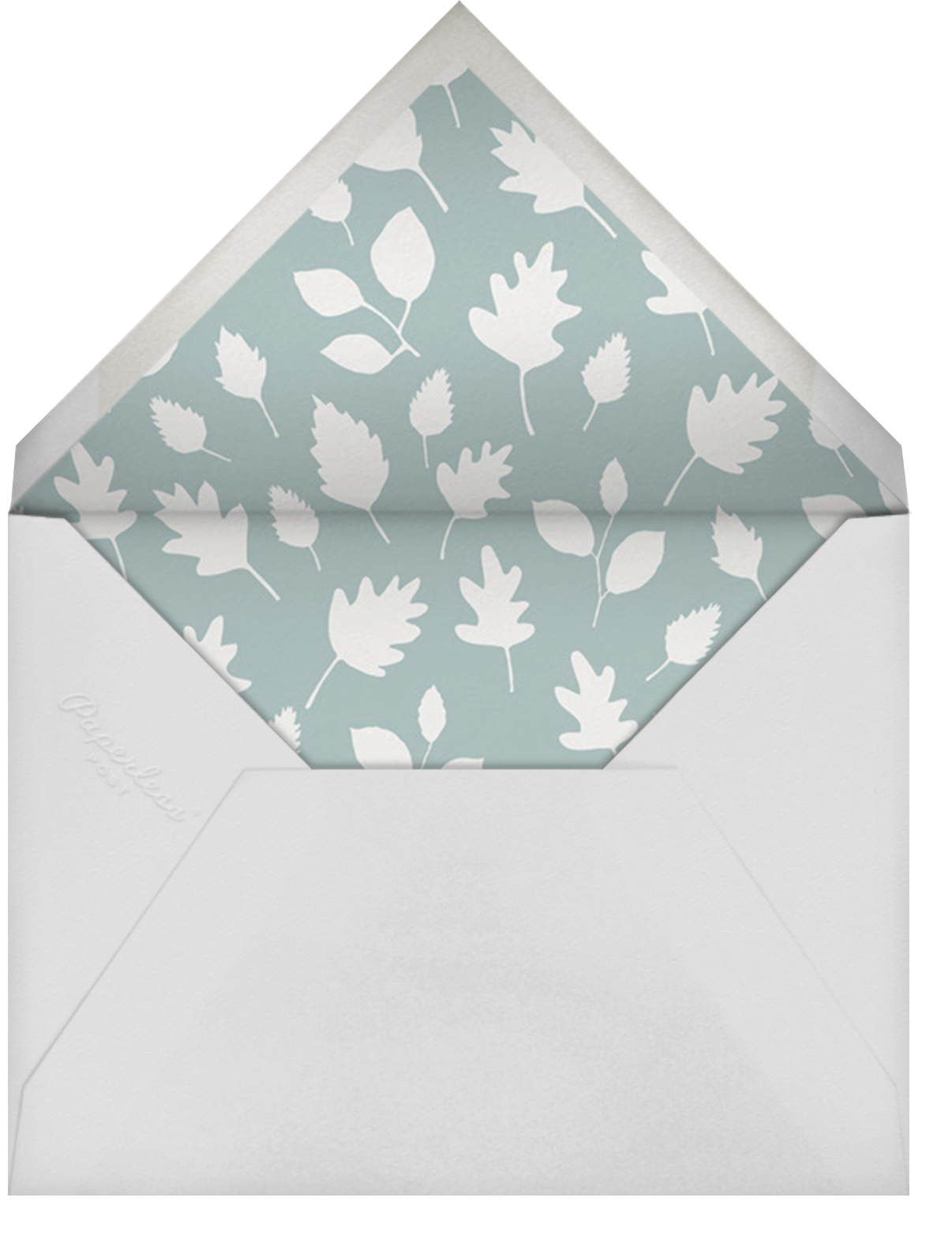 Forest Birthday Party - Bunny - Little Cube - Kids' birthday - envelope back