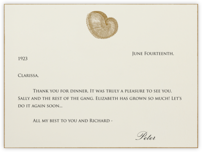 Nautilus - Bernard Maisner - Online thank you notes