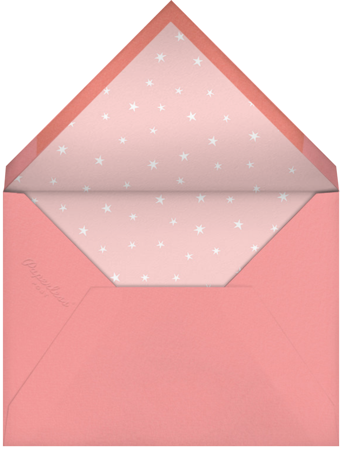 Baby Things - Pink - Hello!Lucky - Baby shower - envelope back