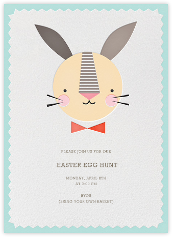 Bow Tie Bunny - Petit Collage - Easter Invitations