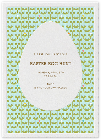 Sprouts - Petit Collage - Easter invitations