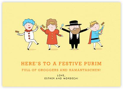 Purim Kids - Paperless Post - Purim cards