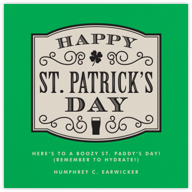 Slainte - Paperless Post - St. Patrick's Day cards