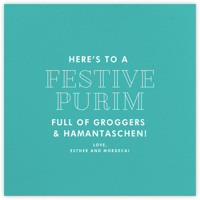 Persian Green (Square) - Paperless Post - Purim Cards