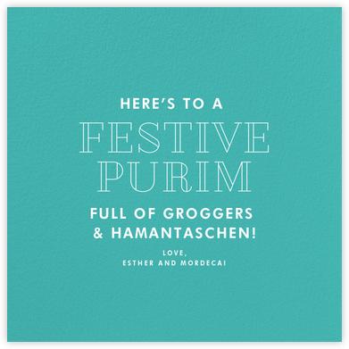 Persian Green (Square) - Paperless Post - Purim cards