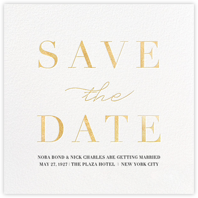 Remnant - Gold - Paperless Post - Wedding Save the Dates