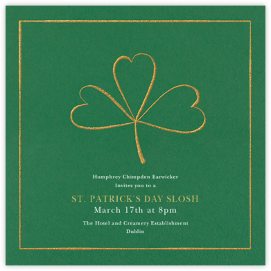 Three-Leaf Clover - Paperless Post - Invitations