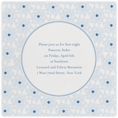 Star Of David Pattern - Ivory - Paperless Post - Passover invitations