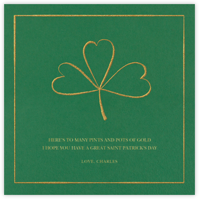 Three-Leaf - Paperless Post - St. Patrick's Day cards