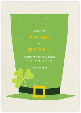 The Tallest Leprechaun - Paperless Post - St. Patrick's Day cards