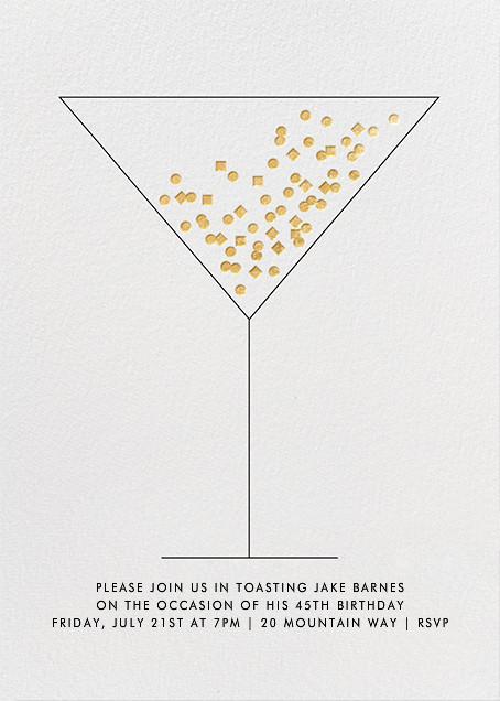 Confetti Martini - Paperless Post - Adult birthday invitations