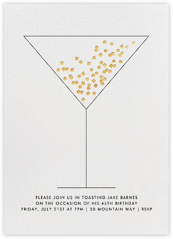 Confetti Martini - Paperless Post - Adult birthday invitations