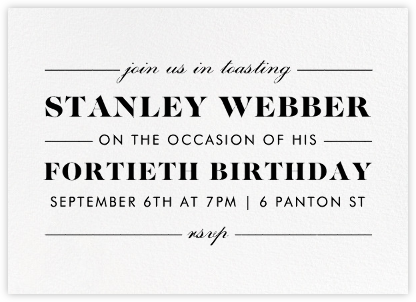 The Occasion - Ivory - Paperless Post - Adult Birthday Invitations