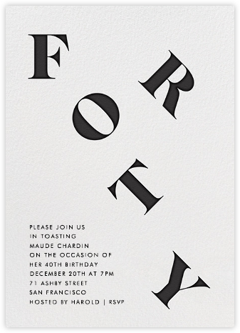 It's All Uphill from Here (Forty) - Paperless Post - Milestone Birthday Invitations