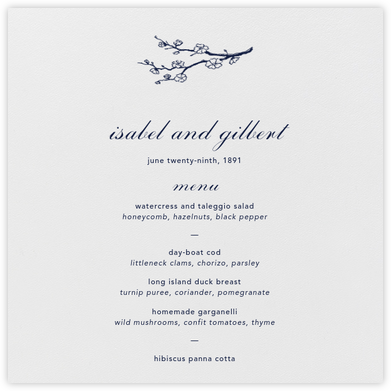 Ivory (Menu) - Paperless Post - Wedding menus and programs - available in paper