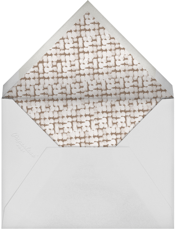 Tulum (Stationery) - White/Apricot - Paperless Post - Personalized stationery - envelope back