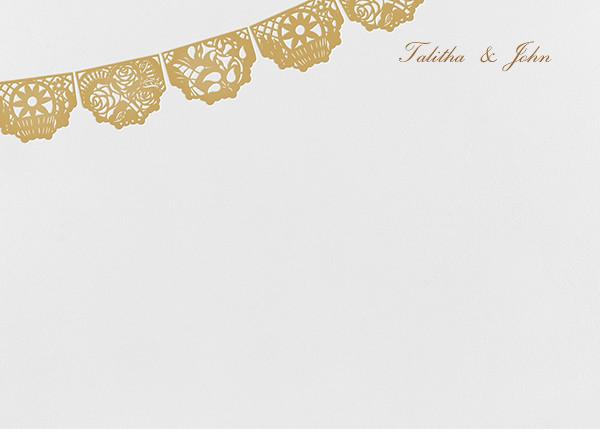 Tulum (Stationery) - White/Apricot - Paperless Post - Stationery