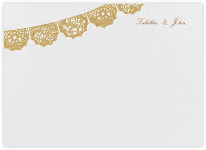 Tulum (Stationery) - White/Apricot - Paperless Post - Stationery