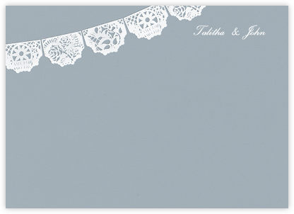 Tulum (Stationery) - Pacific/White - Paperless Post - Stationery