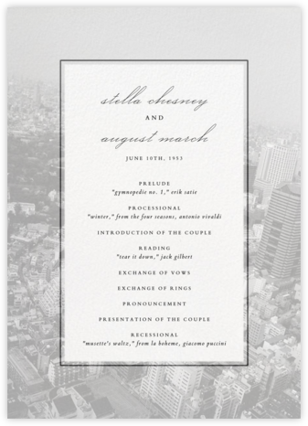 City Panoramic (Program) - Ivory - Paperless Post - Wedding menus and programs - available in paper