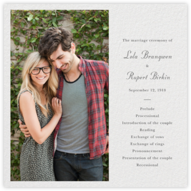 Split Square (Program) - Paperless Post - Wedding menus and programs - available in paper