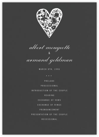 Slate (Program) - Paperless Post - Wedding menus and programs - available in paper