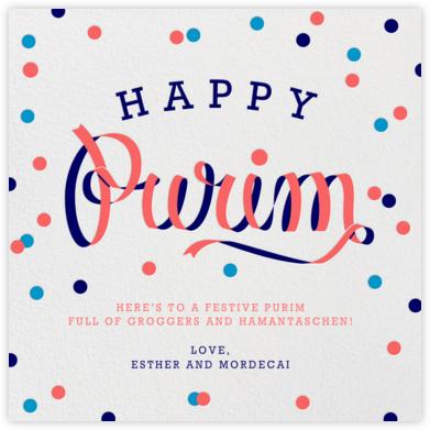 Purim Ribbon - Paperless Post - Purim cards