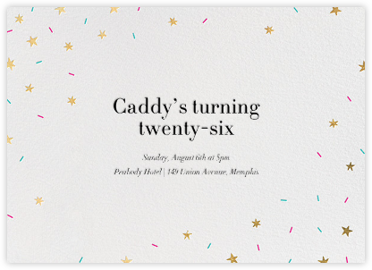 Starfetti - Gold - Paperless Post - Adult Birthday Invitations