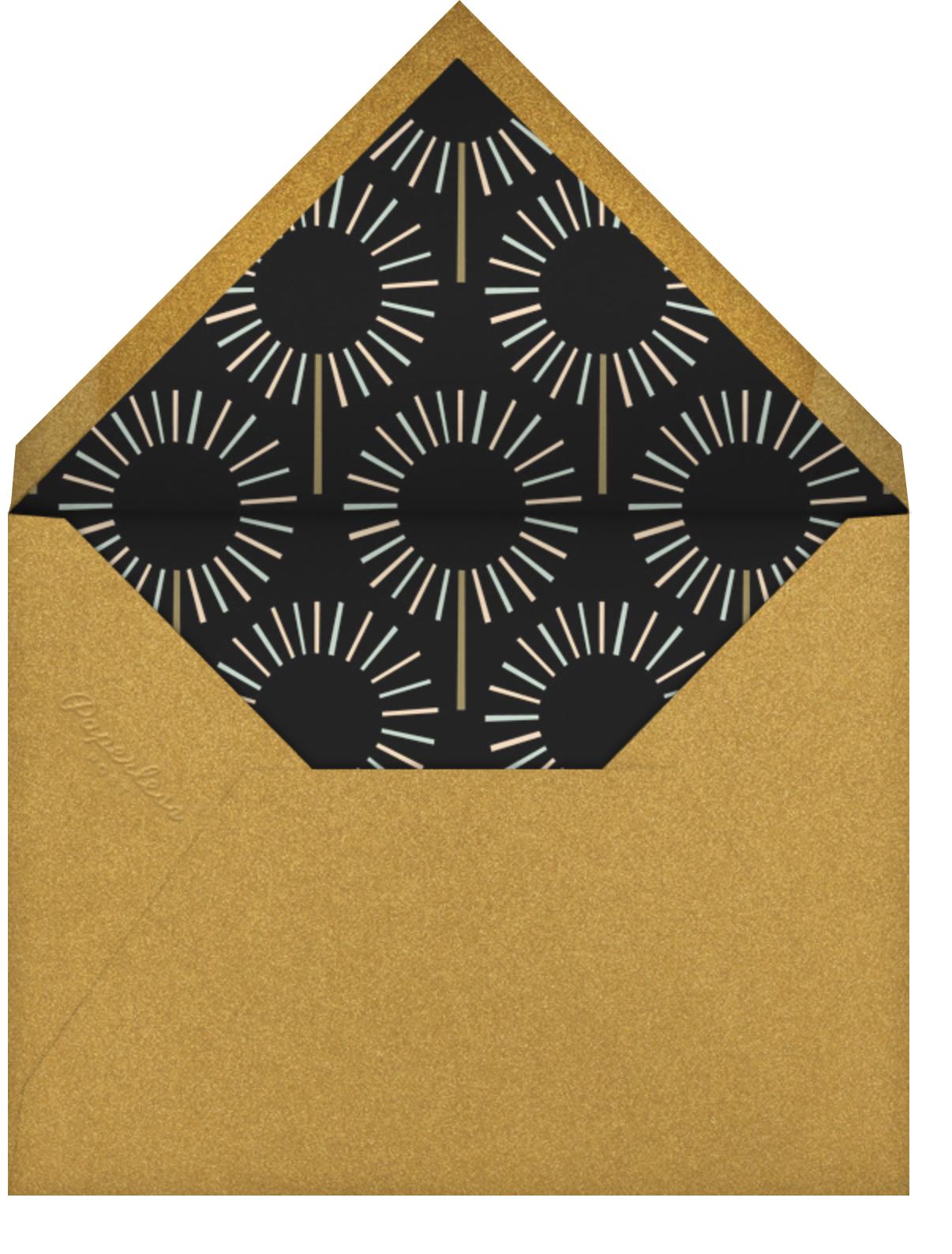 Year of the Sparkler - Black - Paperless Post - Adult birthday - envelope back