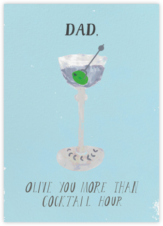 A Martini for Pops - Mr. Boddington's Studio - Father's Day Cards