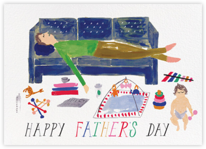 Daddy's Cat Nap - Fair - Mr. Boddington's Studio - Father's Day Cards
