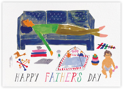 Daddy's Cat Nap - Mr. Boddington's Studio - Father's Day cards