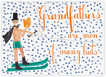 Grandfather is Waterskiing Again - Fair - Mr. Boddington's Studio - Father's Day Cards