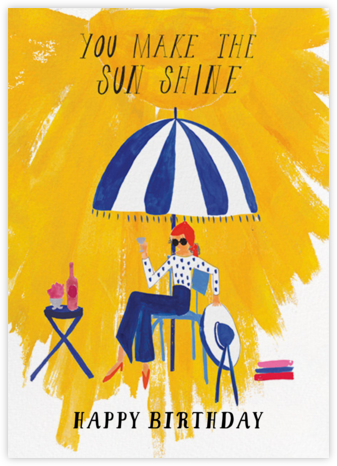 Sunshine - Mr. Boddington's Studio - Birthday Cards