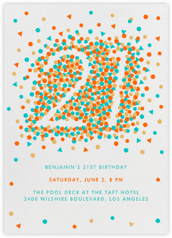 This Year is Shaping Up (Twenty-One) - Paperless Post - Milestone birthday invitations