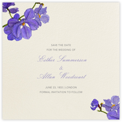 Moth Orchid (Save the Date) - Felix Doolittle - Save the dates