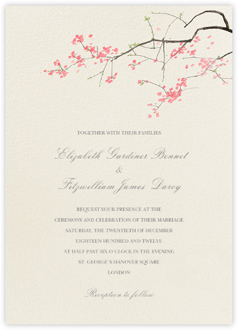 Japanese Cherry - Felix Doolittle - Online Wedding Invitations